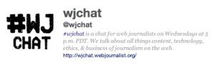 #wjchat bio