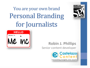 Personal Branding for Journalists 2016